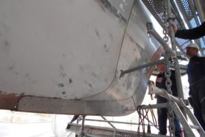 Fabrication d'une étrave inox - réparations navales CMO