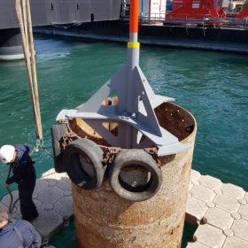 Travaux sur barge de travail EMR