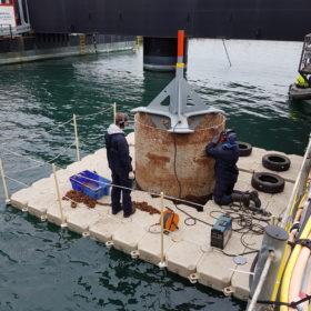 Travaux sur barge de travail EMR 3